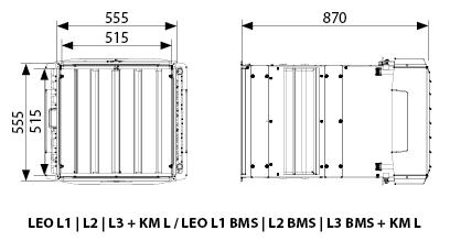 Wymiary LEO L z KM L