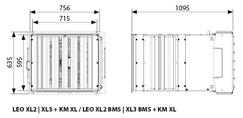 Wymiary LEO XL z KM XL